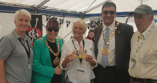28 June 2018 - Here I am with the Deputy Mayor at the Barnes Park annual family event. This year the theme was 'Ships Ahoy' in celebration of Sunderland hosting the Tall Ships Races in July 2018.