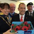 4 October 2018 - I held a special reception to show my support for the city's annual Poppy Appeal. I welcomed regional officers from the Royal British Legion alongside regional television broadcaster Jeff Brown.