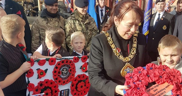 26 October 2018 - I visited The 'Walk of Poppies' from Barnes Park to St Luke's Terrace in Pallion. I was joined by children from the activities club and older members of the community including 102 year old Sunderland WWI Veteran Mr Ernie Jones.