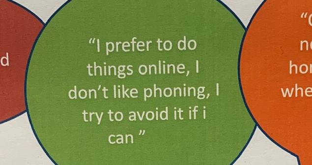 I prefer to do things online