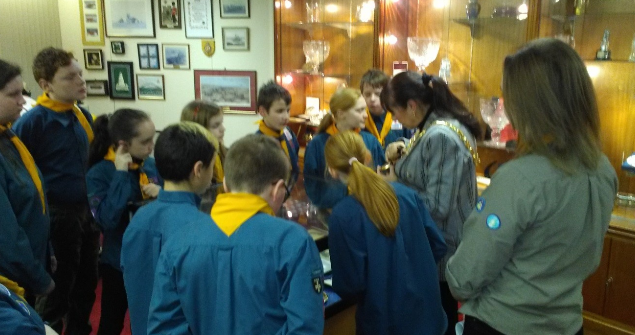 5 February 2019 - The 3rd Washington Scouts Group visited the Mayor's Parlour.