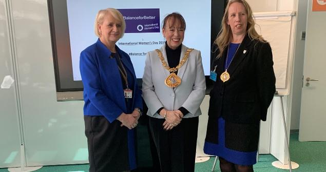 11 March 2019 - I attended HMRC as the guest speaker alongside the Deputy Mayoress Cllr Dianne Snowdon for the International Women's Day celebrations.