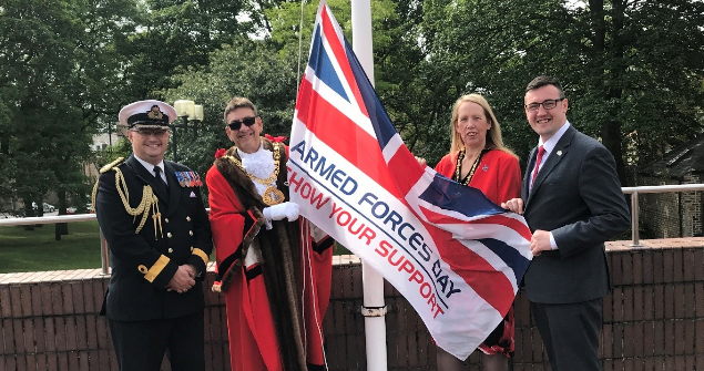 28 June 2019 (a) - I hosted the annual Armed Forces Day Flag Raising Ceremony at the Civic Centre, thank you to everyone who attended.