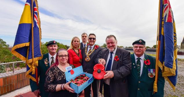 3 October 2019 - Here I am proudly purchasing the first poppy of the 2019 Poppy Appeal.