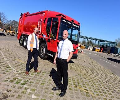 Electric bin lorry