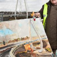 Artist puts Northern Spire in the frame