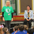 23 May 2018 - I visited St Benet's RC Primary School to hear volunteers tell children how to stay safe from abuse as part of the Speak Out Stay Safe assemblies run by one of my charities, the NSPCC.