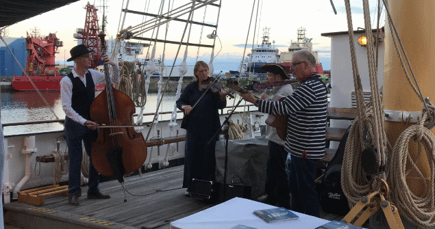 12 July 2018 – I also attended the Tall Ship's City Deck Party aboard the Santa Maria Manuela.