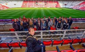 German business students visited Sunderland to learn more about the city, its economy and culture image