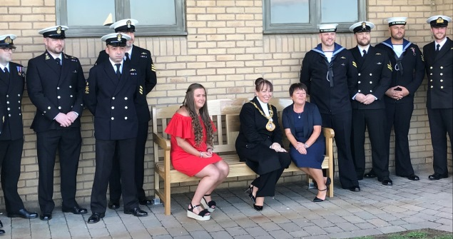 22 September 2018 - The Sunderland Branch of the Submariners Association and the family of the late Anthony Huntrod invited me to attend the dedication of a memorial bench for Anthony, who tragically lost his life whilst in service on the 21 March 2007