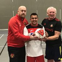 A special match was held at the Beacon of Light to help raise awareness of disabled football