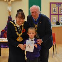 This year's civic Christmas card has been designed by a pupil at a local primary school