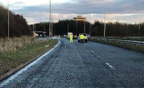 Contractors on standby to resurface A1231  image