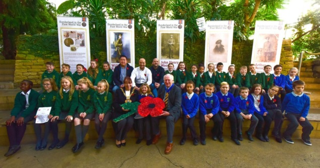 9 November 2018 - I helped launch the Remember, Reflect, Respect project at Sunderland Museum & Winter Gardens. Five primary schools across the city worked with an artist to look at the impact of WWI on Sunderland.