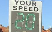 Smiley signs to help stop speeding image