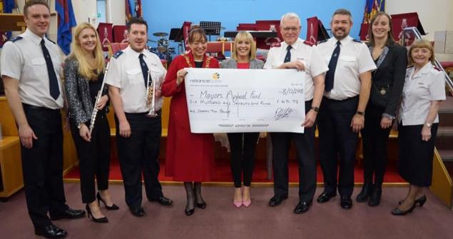 8 December 2018 - I attended the Salvation Army's Civic Carol Concert in aid of my charities raising over £600.