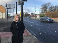 The first phase in road safety improvements on a busy stretch of road into the city is complete