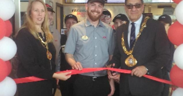 3 June 2019 - The Mayoress and I had the honour of opening the new KFC restaurant in Pennywell which is creating new jobs for the people of the city.