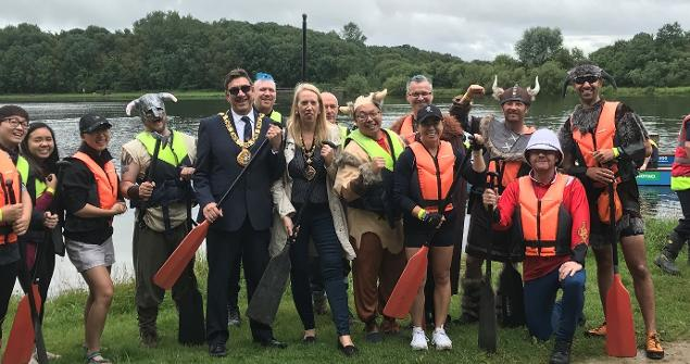 11 August 2019 - I attended the Rotary Annual Dragon Boat Challenge 2019 at Hetton Lyons Country Park.