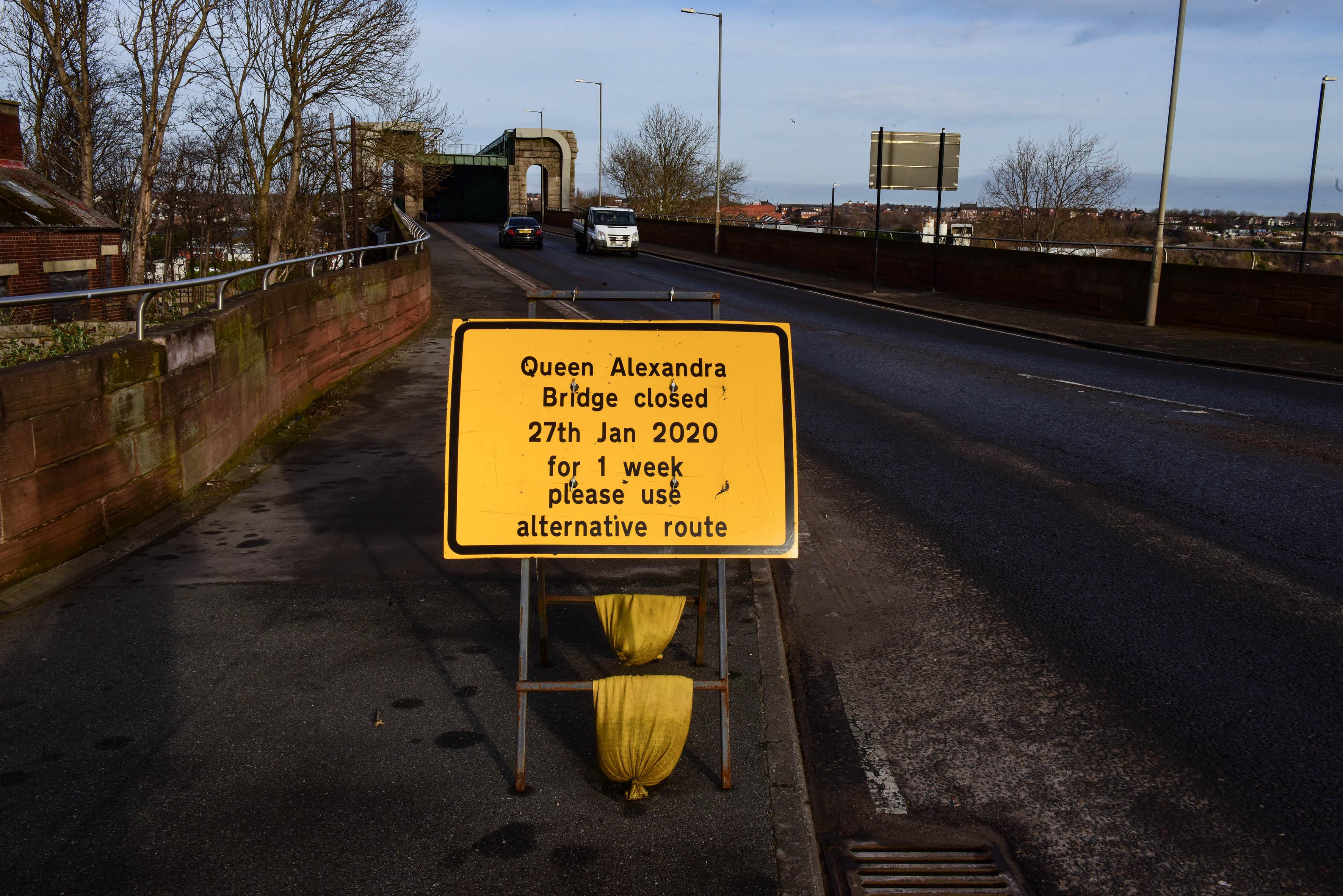 Queen Alexandra Bridge one week traffic closure image