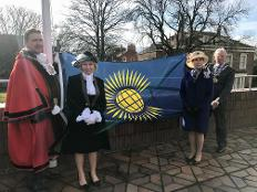 Raising the Commonwealth flag