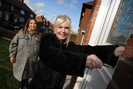 Keys to the door for first council house tenant for almost 20 years