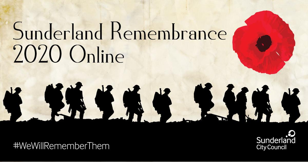 Sunderland Remembrance 2020 online image